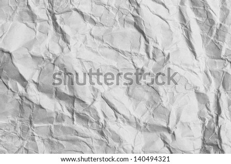 crumpled white paper as a background - stock photo