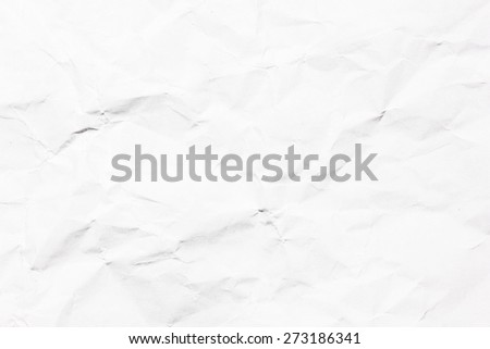 Crumpled white paper texture. - stock photo