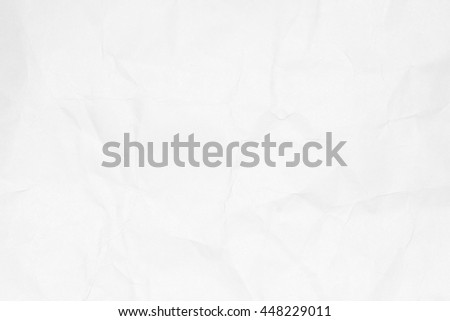 Crumpled white paper texture background for design with copy space for text or image.
