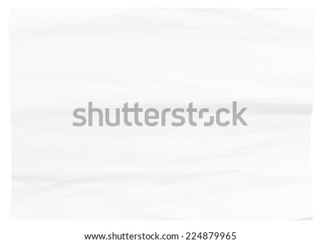 crumpled white paper texture for background - stock photo