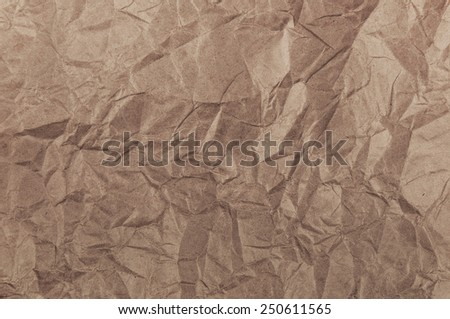 Crumpled wrapping paper texture - stock photo