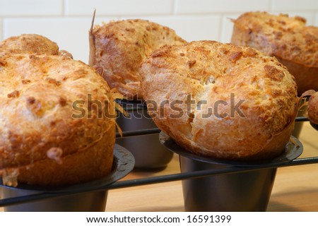 Crunchy Popovers - stock photo