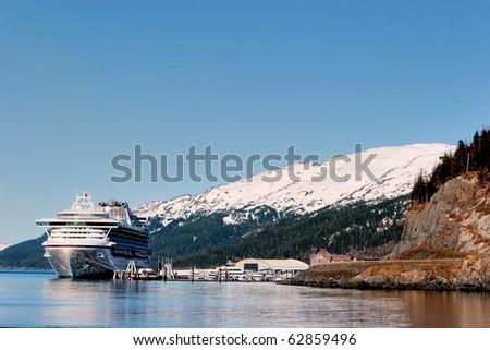 Cruse ship at Prince Williams Sounds Alaska - stock photo