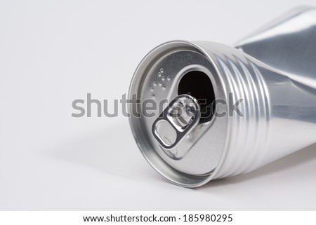 Crushed aluminum can - stock photo