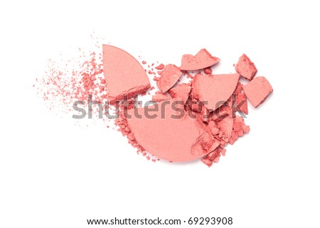 crushed blush palette isolated on white