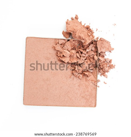 crushed cosmetic powder  - stock photo