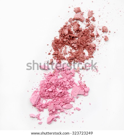 crushed cosmetic powder