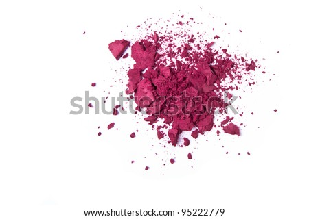 crushed eyeshadow isolated on white background - stock photo