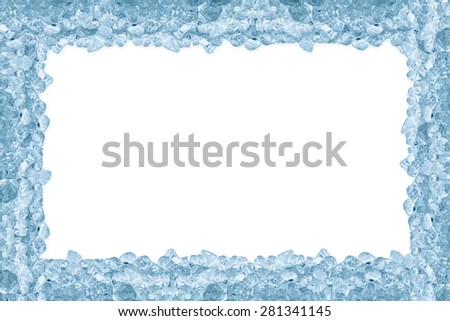crushed ice on white background - stock photo