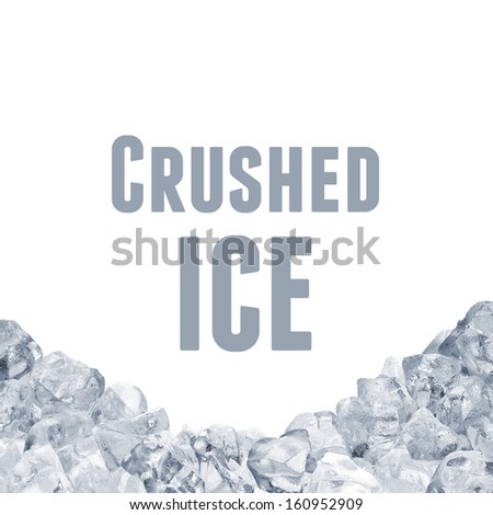 Crushed ice pile with clipping path - stock photo