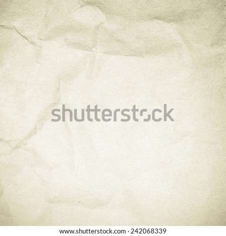 Crushed old paper surface - stock photo