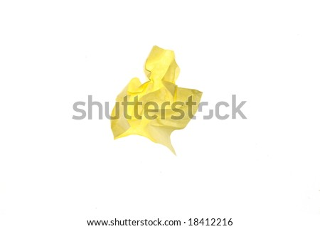 Crushed piece of paper - stock photo