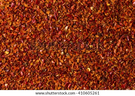Crushed red chili pepper for background texture - stock photo