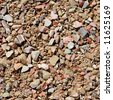 Crushed stone. - stock photo