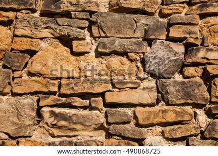 Crushed stone wall detail - background and afterimage