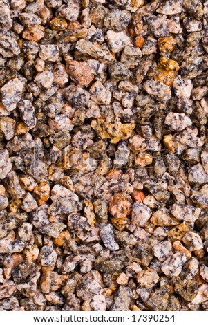 Crushed stones, seamless background texture - stock photo