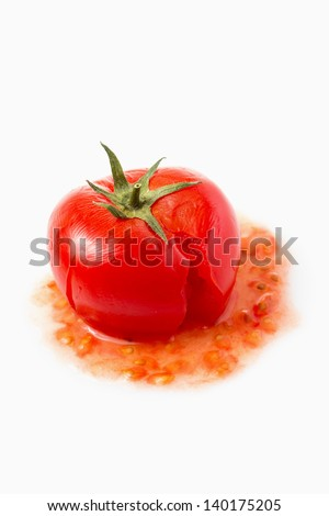 Crushed Tomato - stock photo