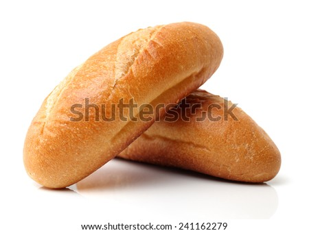 crusty mini baguettes on white surface