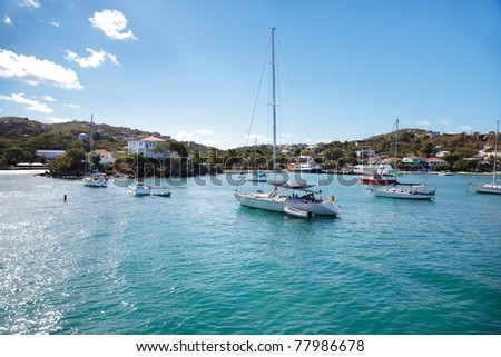 Cruz Bay, St. John,  in the morning sunlight