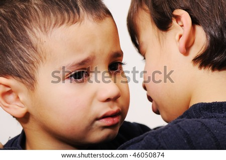 cry boy - stock photo
