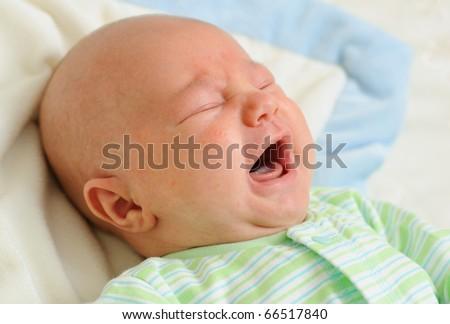 Crying baby - stock photo