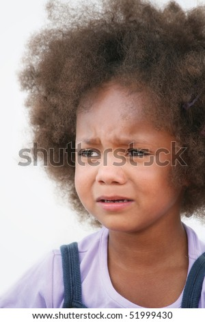 crying girl - stock photo