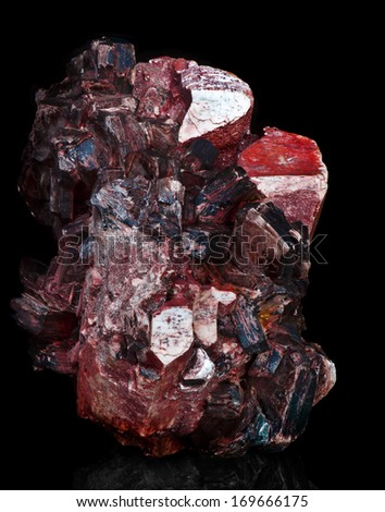 crystal aggregate - stock photo