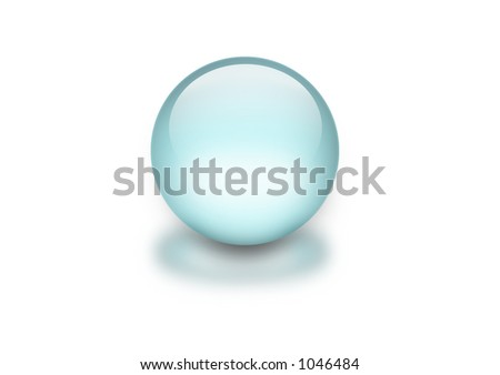 crystal ball - stock photo