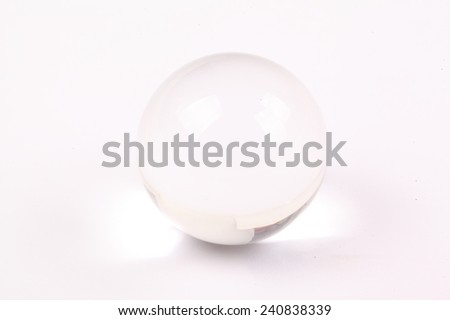 Crystal ball and white background - stock photo