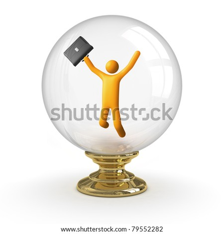 Crystal ball - Business Success. clipping path included. - stock photo