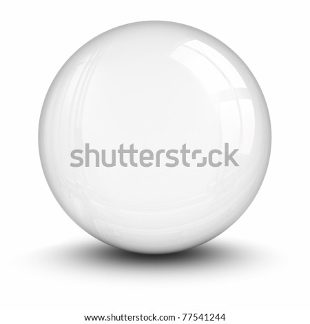 Crystal ball. clipping path included. - stock photo