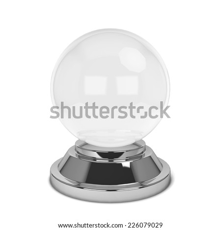 Crystal ball. 3d illustration isolated on white background  - stock photo