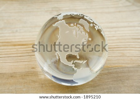 Crystal ball globe - add your text or image