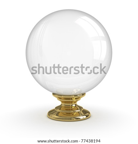 Crystal ball (Isolated) - stock photo