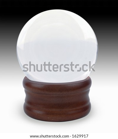Crystal ball on gradient background - stock photo