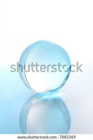 Crystal ball with reflection - stock photo