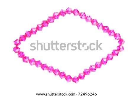 Crystal bead diamond shape frame - stock photo