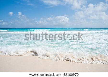 Crystal Blue and Clear Water - stock photo