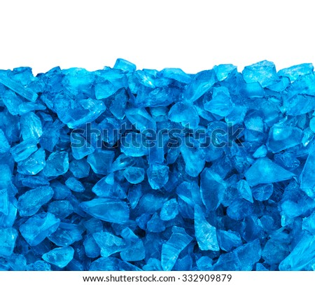 Crystal blue ice background , clipping path , copy space - stock photo