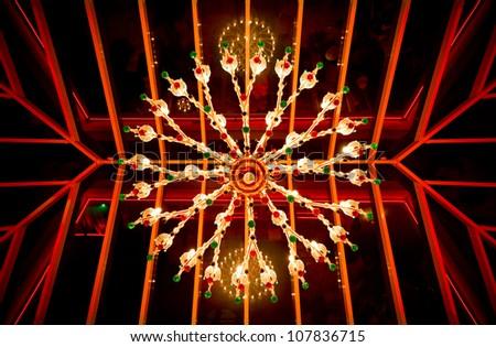 Crystal chandelier - stock photo