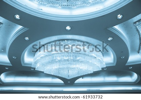 Crystal Chandelier Close-up - stock photo