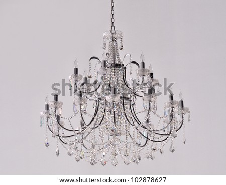 Crystal chandelier group hanging crystals stock photo 102878627 crystal chandelier group of hanging crystals aloadofball Image collections