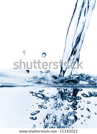 Crystal-clear flowing water - stock photo