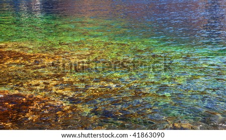 crystal clear water for snorkeling located at james cook monument big island hawaii - stock photo