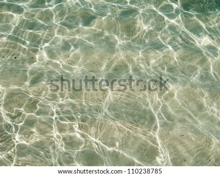 Crystal clear water of the tropical sea - stock photo