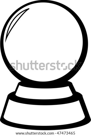 crystal fortune ball - stock photo