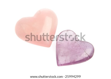 Crystal Hearts - stock photo
