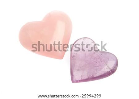 Crystal Hearts - stock photo