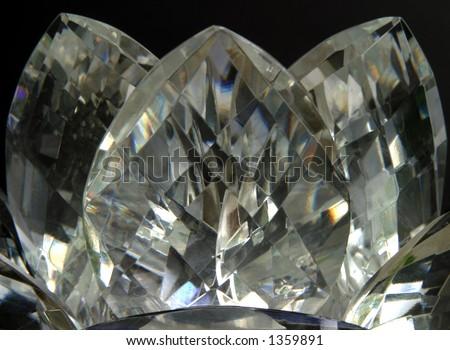 Crystal Lotus - Gold tones - close-up - stock photo