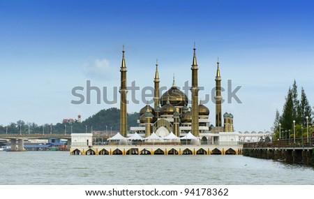Crystal mosque in Kuala Terengganu, Malaysia - stock photo